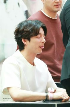 Cute hột me :> Kim Woo Jin, Kim Go Eun, Korean Celebrities, Korean Actors, Korean Men, Goblin The Lonely And Great God, Goblin Korean Drama, Goblin Gong Yoo, Spy Girl