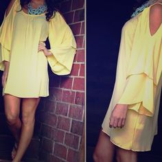 Mint ruffle sleeve dress Cutouts on the shoulder with super cute ruffled sleeves. The 2nd picture is the color of the dress. Price firm unless using PP. Dresses