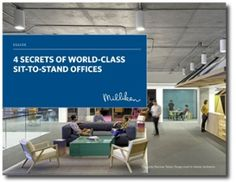 Download the free eGuide, for 4 sit-to-stand office secrets straight from the world's leading design firms, and their prestigious clients.