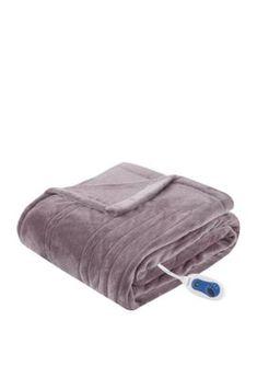 Beautyrest Heated Plush Throw Blanket - Lavender - 60 X 70 Heated Throw Blanket, Quilted Throw Blanket, Teal Quilt, Cable Knit Throw, Knitted Throws, Bed Throws, Plush, Crochet Afghans, Crochet Blankets