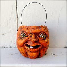 Primitive Halloween Folk Art Pumpkin JOL by MothersDreamRtworks