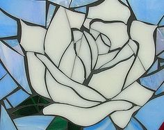 stained glass mosaic rose - Google'da Ara