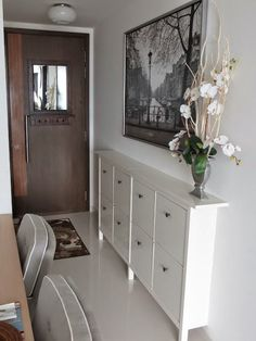 Narrow Hallway Cabinet Furniture Large Size Picture Of A An Open Floor Plan House Hallway Cabinet, Hallway Storage, Ikea Shoe Storage, Cabinet Storage, Cabinet Ideas, Storage Spaces, Ikea Hemnes Shoe Cabinet, Cabinet Furniture, Home Interior