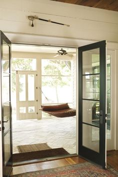 """I want a hammock on my porch! """"Lazy porch in the home of Louisa Moore in South Carolina."""""""