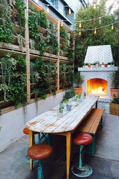 """After the ceremony, the party moved over to The Butcher's Daughter in Venice. """"The restaurant looks like a larger version of the cottage, with its white walls, overflowing greenery, and simple yet detailed decor,"""" Whitney says. #refinery29 http://www.refinery29.com/2016/06/115123/whitney-leigh-morris-wedding-pictures#slide-12"""