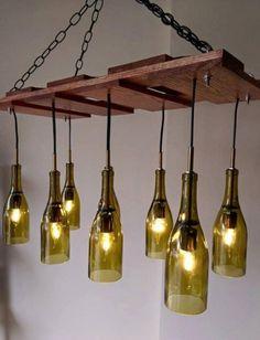 Resultado de imagen de lamparas con tronco recicladas