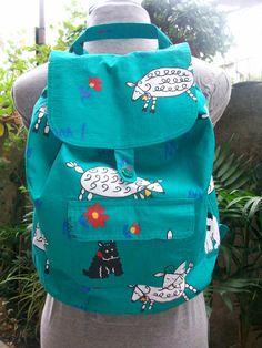 Backpack Shoulder Bag handmade bag fabric  by lepropostedimari, €34.90