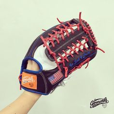 """In God I Trust"" with the Stars and Stripes.   Gloveworks - your custom baseball glove maker. From base leather to stitching thread, design your own glove with thousands of personalization options! Visit http://www.gloveworks.net for further details  #Gloveworks #BringItHome #BaseballGlove"