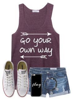 """""""Does Anyone Write Lil Notes To Your Future Self? I Do When I'm Bored😋"""" by twaayy ❤ liked on Polyvore featuring AG Adriano Goldschmied, Converse, Casetify and Alex and Ani"""
