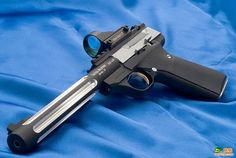 browning buckmark w/ red dot sight and fluted barrel