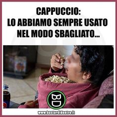 Quando scopri che lo hai sempre usato male. Seguici su youtube/bastardidentro #bastardidentro #cappuccio #popcorn www.bastardidentro.it