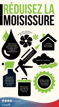 Découvrez les endroits où la moisissure peut se développer et les moyens de vous en débarrasser :  http://www.canadiensensante.gc.ca/environment-environnement/home-maison/mould-moisissures-fra.php?utm_source=pinterest_hcdns&utm_medium=social&utm_content=May8_mould_FR&utm_campaign=social_media_14