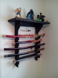 Recycled fence wood sword display