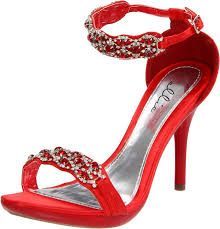 red high heels with a bit of diamonds
