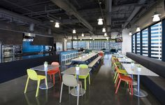 color with chairs Whole Foods Market office by Wirt Design Group, Glendale   California office