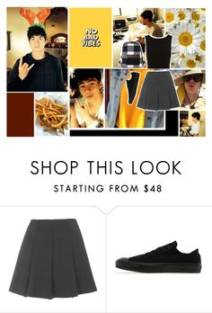 """""""Cal *-*"""" by nutellana ❤ liked on Polyvore featuring Topshop and Converse"""