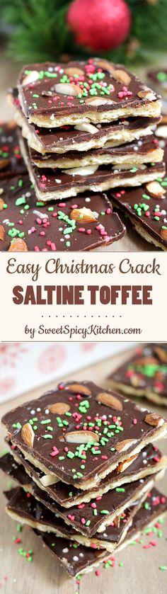 Easy Christmas Crack Saltine Toffee