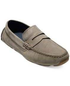 Cole Haan Men's Kelson Penny Driver Loafers - Gray 10.5