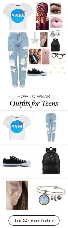 """""""Untitled #946"""" by a-angel on Polyvore featuring Topshop, Converse, Jools by Jenny Brown, ETUÍ, Sweet Romance, Givenchy and Jeepers Peepers"""