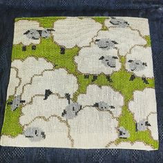#crosstitch #pillow #lambs