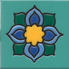 """4""""x4"""" Catalina Tile, also more available at http://www.millerarttile.com/"""