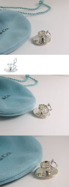 Fine Charms and Charm Bracelets 140956: Tiffany And Co. New Picasso Espresso Coffee Cup Charm Retired Silver 18K -> BUY IT NOW ONLY: $550 on eBay!