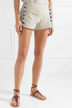 Dodo Bar Or | Tasseled striped cotton-gauze shorts | NET-A-PORTER.COM
