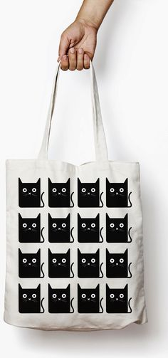 Show Your Feline Side While Ping 4 Cat Tote Bags Bag Crazy