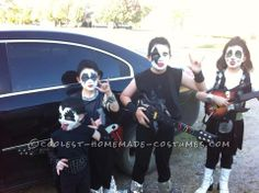 Child DIY Group Costume: KISS Band... This website is the Pinterest of costumes