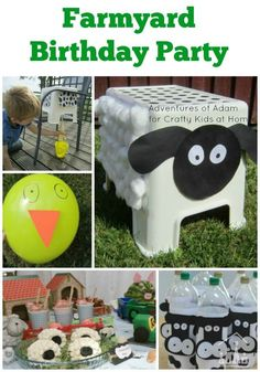All the inspiration you need for Farmyard Birthday Party for kids. Includes ideas for party games and party food.