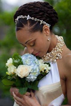 50 Superb Black Wedding Hairstyles wedding+updo+for+african+american+women Natural Hair Wedding, Natural Updo, Wedding Updo, Natural Hair Styles, Natural Wedding Hairstyles, African Hairstyles, Black Women Hairstyles, Hairstyles With Bangs, Ladies Hairstyles
