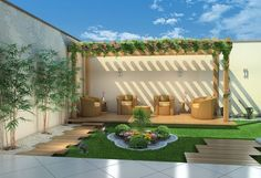 Make your day with these fabulous backyard pergola design. Add pergola in backyard place to escape of city life. If you have some time, see these ideas Pergola Canopy, Outdoor Pergola, Wooden Pergola, Backyard Pergola, Pergola Shade, Backyard Landscaping, Outdoor Decor, Pergola Lighting, Backyard Ideas