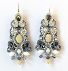 "Great gift for soutache lovers. Chandelier Earrings – Earrings from the collection ""Jewellery Julia"" – a unique product by victorbielizna via en.DaWanda.com"