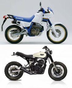 I love this Honda Dominator transformation. Honda Dominator, Honda Scrambler, Tracker Motorcycle, Moto Bike, Motorcycle Design, Bike Design, Motorcycle Cake, Motorcycle Jeans, Motorcycle Camping