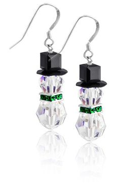 Swarovski snowman earring kit - emerald... or on my budget, maybe just some beads from Michaels...?
