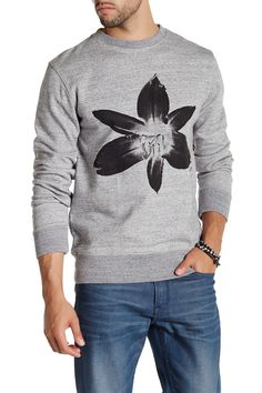 Bowery Floral Crew Neck Pullover