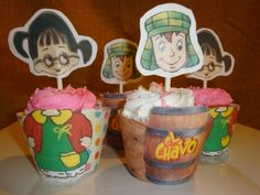 El Chavo del Ocho La Chilindrina cupcake wrappers by HappyToons, $15.00