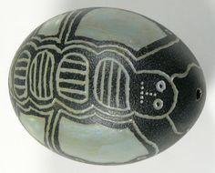 carved emu egg- @thatartistwoman.