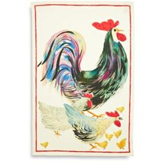 Rooster Linen Kitchen Towel, available at #surlatable