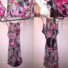 Hawaiian print halter dress Worn but in great condition in picture it's just wrinkled . Kaitlyn Clothing  Dresses Mini