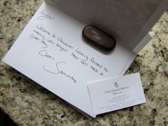Welcome Note - Four Seasons Vancouver