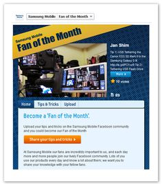 I am Official Samsung Mobile's Fan of the Month