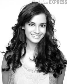 A portrait of Bollywood actress Dia Mirza.