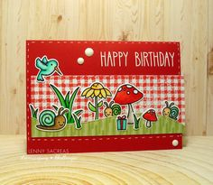 Lawnscaping Challenge: Birthday card and matching decorated gift jar Card Making Inspiration, Making Ideas, Paper Craft Making, Paper Crafting, Lawn Fawn Stamps, Cards For Friends, Card Sketches, Sympathy Cards, Card Tags
