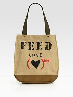 FEED - FEED(RED) LOVE 30 Tote Bag - Saks.com
