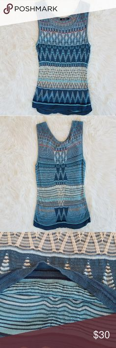 "Nic and Zoe Printed Sweater Tank Nic and Zoe Printed Sweater Tank 52% Silk, 48% Rayon Measurements laying flat: 16"" Bust 18"" underarm to hem length NIC+ZOE Tops"