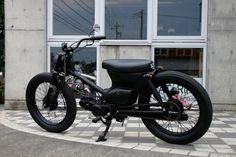To know more about GARAGE 521 Black Cat, visit Sumally, a social network that gathers together all the wanted things in the world! Custom Motorcycle Parts, Custom Moped, Aftermarket Motorcycle Parts, Buy Motorcycle, Moped Bike, Honda Bikes, Honda Motorcycles, Honda Cub, Motorcycle Companies