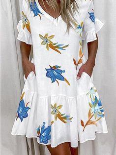 Elegant Dresses For Women, Summer Dresses For Women, Casual Dresses, Dresses Dresses, Dress Summer, Loose Dresses, Lace Mesh Dress, Ruffle Shorts, Short Mini Dress