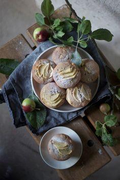 Glutenfree apple marzipan muffins.