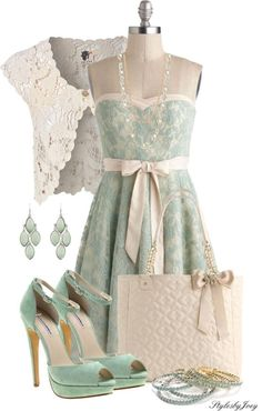 """Strapless Lace"" by stylesbyjoey on Polyvore:"